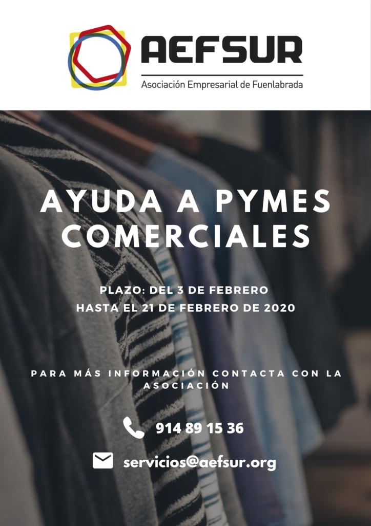 Cartel ayuda PYMES comerciales